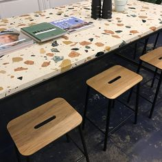 Terrazzo Counter and Stools at Toki Cafe Amsterdam