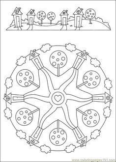 Free Printable Mandala Coloring Pages | free printable coloring page Mandalas 040 (Other > Painting)