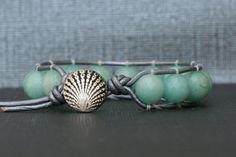 beach jewelry  faceted amazonite wrap bracelet  by CorvusDesign