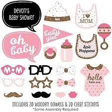 Image result for free printable baby shower photo booth