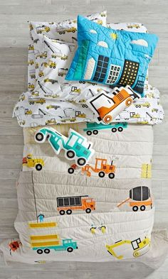 Shop Construction Bedding.  Our construction bedding is ready to lay the foundation for a good night's sleep.  This 100% cotton bedding is available in twin, full or queen.  Order online.