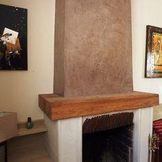 Repeindre poutre bois chemin e relooking chemin e en - Peinture pour hotte de cheminee ...