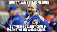 Great career ending hit! Chicago Cubs Fans, Chicago Cubs World Series, Chicago Cubs Baseball, Baseball Boys, World Series 2016, Cubs Win, Go Cubs Go, Baseball Quotes, My Kind Of Town