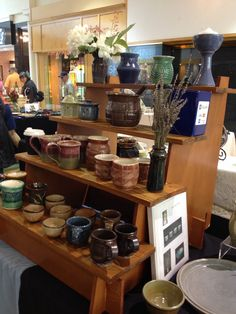 Pottery by Karen Fisher, sale at University Mall
