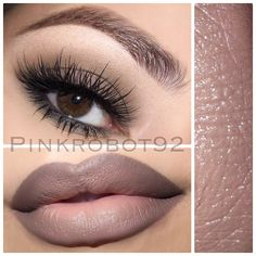 ❤️❤️❤️ EYES: Tailor Grey Paintpot by @maccosmetics on the lid. Cosmic eyeshadow by @motivescosmetics on the bottom lash line. LASHES: Pixie Luxe by @houseoflashes BROWS: Brunette Brow Wiz by @anastasiabeverlyhills LIPS: Stone lipliner by @maccosmetics and Nice lipstick by @motivescosmetics