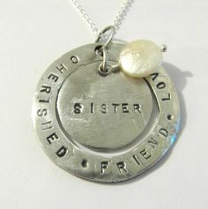 PMC .999 fine silver custom made to order necklace. $72.00, via Etsy.