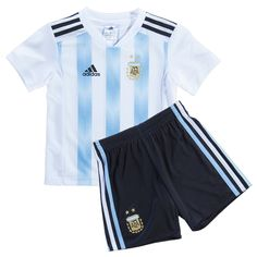 dad90033ff7 Argentina 2018 World Cup Home Kids Football Kit