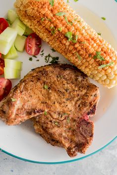 Grilled Pork Chops with Grilled Chile Lime Corn www ...
