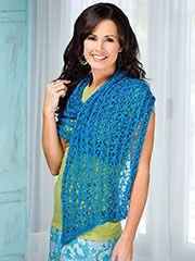 Accessory Knitting Downloads - Seaside Shawl Knit Pattern
