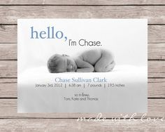 HelloA Simple and Stylish Custom Photo Birth by MadeWithLoveJJ