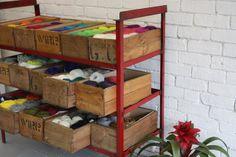 Yarn in crates