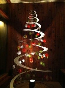 spiral aluminum tree from Tannenboing