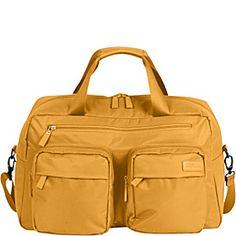 """Lipault Paris 19"""" Weekend Shoulder Bag - Mustard - via eBags.com!"""