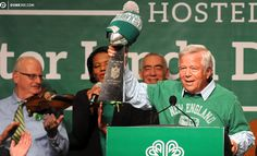 Patriots owner Robert Kraft jokes about Darrelle Revis while taking shots at the New York Jets.
