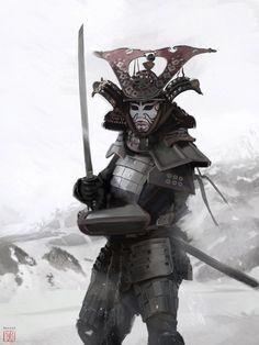The assassin Samurai, David Benzal on ArtStation at https://artstation.com/artwork/the-assassin-samurai