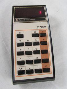 Vintage TI-1200 Electronic Calculator Texas Instruments USA - Works #TexasInstruments