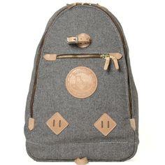 Yuketen Triangle Backpack (Grey Heather Wool)