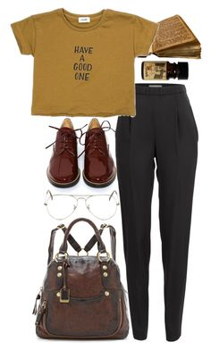 """Untitled #9133"" by nikka-phillips ❤ liked on Polyvore featuring Vionnet, MM6 Maison Margiela, Ray-Ban and Frye"