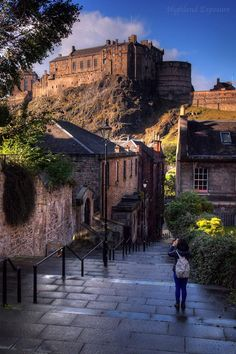 The Vennel to Edinburgh Castle, Scotland.