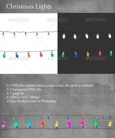 Christmas Lights  —  PSD Template • Only available here! →…