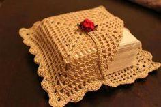 Porta-guardanapos em crochê