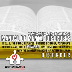 The Diagnostic and Statistical Manual of Mental Disorders: (DSM-5, published in 2013) includes Asperger syndrome, childhood disintegrative disorder, and pervasive developmental disorders not otherwise specified (PDD-NOS) as part of ASD rather than as separate disorders.