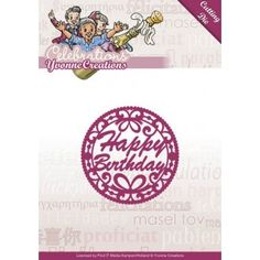 Stencil Die Yvonne Creations - Celebrations - Happy Birthday YCD10050