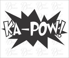 KA-POW! Vinyl Car Decal, Comics, Superman, Batman, Wonder Woman, Graphic Novel #DecalDrama