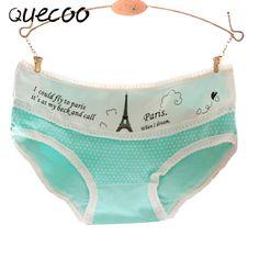 QUECOO Week pants cute sexy Paris Tower fresh cute girl underwear lady underwear cotton cotton small waist pants 104 //Price: $14.40 & FREE Shipping //     #hashtag1