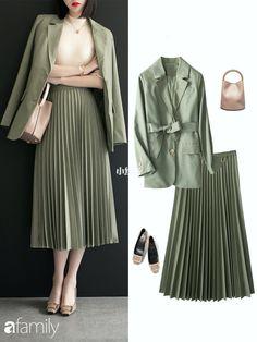 Korean Girl Fashion, Ulzzang Fashion, Korea Fashion, Muslim Fashion, Kpop Fashion Outfits, Cute Fashion, Casual Work Outfits, Professional Outfits, Modest Outfits
