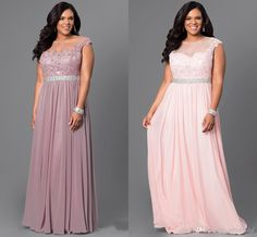 3c583aa9bf2 Pink Light Purple Cheap Prom Evening Dresses Plus Size Bateau Cap Short  Sleeves Chiffon Applique Long Pageant Formal Party Dress Gowns Long  Occasion Dresses ...