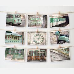 Paris Postcard Collection Green design inspiration on Fab.