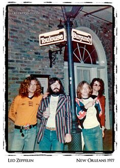 Led Zeppelin - New Orleans 1977, Vanessa: our hotel is on Toulouse #LedZeppelin #LedZep #Zep