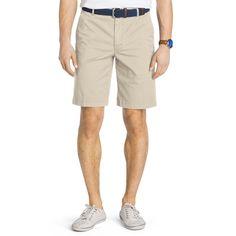 Men's IZOD Saltwater Straight-Fit Stretch Chino Shorts, Size: 40, Lt Beige