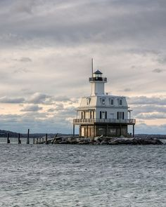"Long Beach Bar ""Bug"" Lighthouse Orient Point State Park by Bill. Long Island Ny, Island Beach, Long Beach Bars, Beacon Of Light, Le Moulin, Ocean Beach, State Parks, Places To Go, National Parks"