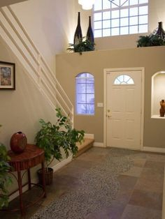Plant Shelf Design, Pictures, Remodel, Decor and Ideas – page 7 – Decorating Foyer High Shelf Decorating, Plant Ledge Decorating, Foyer Decorating, Decorating Ideas, High Ceiling Decorating, Above Door Decor, Window Ledge Decor, Entryway Decor, Wall Ledge