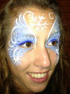 2015 Halloween you should see these gorgeous Frozen face paint that fit the costumes so well ! - Fashion Blog
