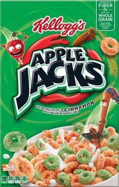 3 NEW Cereal Coupons Include: Kellogg's Apple Jacks Cereal, Kellogg's Krave Cereal, Kellogg's Corn Pops Cereal Cinnamon Cereal, Cinnamon Apples, Dried Apples, Gourmet Recipes, Snack Recipes, Snacks, Corn Pops Cereal, Cereal Boxes, Oat Cereal