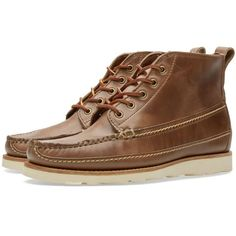 Oak Street Bootmakers Vibram Sole Camp Boot ($405) ❤ liked on Polyvore featuring men's fashion, men's shoes and men's boots
