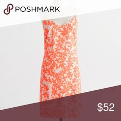 CCO 🎉 J. Crew Neon Papaya Printed Racerback Dress 🎉 CLOSET CLEAROUT SALE 🎉 NWT J. Crew racerback dress in neon papaya (orange) floral print. Adjustable straps. Side zip. Lined. 100% polyester. Falls above knee. Fitted. New with tags. ✖️ No trades | No PayPal | No holds | No modeling. ✔️ Offers welcome. 📷 More photos to follow! J. Crew Dresses
