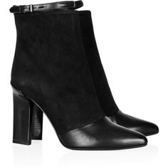 Reed Krakoff Leather-trimmed suede ankle boots ($690) ❤ liked on Polyvore