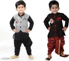 Sherwanis Kid's Boy's Sherwani's Fabric : Art Silk  Sleeves: Long Sleeves  Pattern: Solid  Multipack: 2 Sizes:  4-5 Years (Chest Size: 27 in)  5-6 Years (Chest Size: 28 in)  1-2 Years (Chest Size: 23 in)  3-4 Years (Chest Size: 25 in)  6-7 Years (Chest Size: 29 in)  2-3 Years (Chest Size: 24 in) 7-8 Years (Chest Size: 30 in) Country of Origin: India Sizes Available: 2-3 Years, 3-4 Years, 4-5 Years, 5-6 Years, 6-7 Years, 7-8 Years, 1-2 Years   Catalog Rating: ★4 (8555)  Catalog Name: Princess Elegant Kids Boys Sherwanis CatalogID_827120 C58-SC1172 Code: 074-5535295-