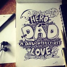 #fathersday #happyfathersday #doodle #freeart #illustration #father #daughter #son #love #prartinc