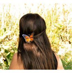 Real Monarch Hair Clip