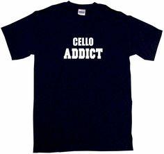 Cello Addict Tee Shirt OR Hoodie Sweat