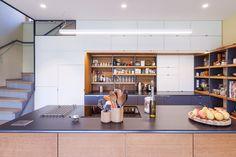 passivhaus | small | family | home | wood | concrete | interier design | kitchen | kalksandstein | two-storey house | berg | austria | architecture
