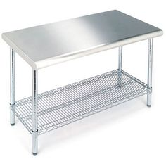 Sportsman S Series Buffalo Tools Stainless Steel Silver Work Table And Tool