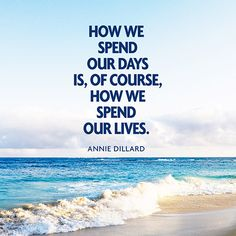How we spend our days is of course how we spend our lives. — Annie Dillard