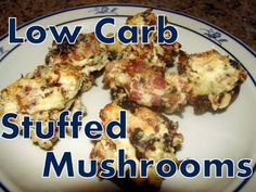 Atkins Diet Recipes: Low Carb Stuffed Mushrooms (IF) - YouTube
