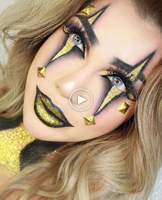 Hall # Halloween Make-up Inspo über - Makeup Looks Yellow Halloween Clown, Black Halloween Makeup, Halloween Kostüm, Halloween College, Halloween Costumes, Scary Makeup, Clown Makeup, Costume Makeup, Circus Makeup